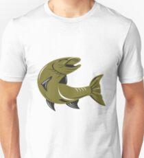 Muskie Muskellunge Fish Retro  T-Shirt