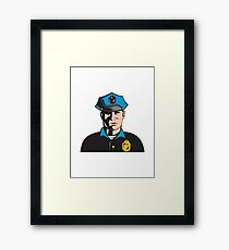 Policeman Police Officer   Framed Print