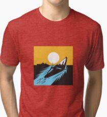 Submarine Boat Retro  Tri-blend T-Shirt