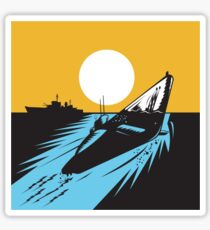 Submarine Boat Retro  Sticker