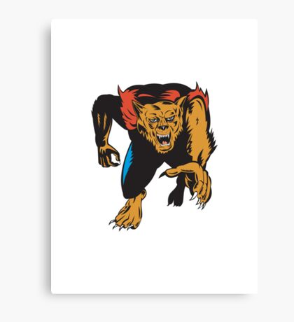 Werewolf Monster  Canvas Print