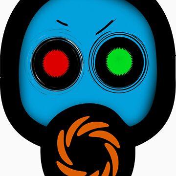 gas mask by aliensymptom