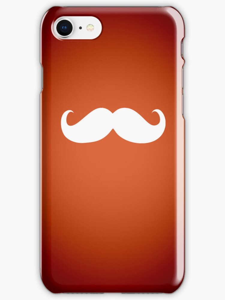 Funny white mustache 2 by Nhan Ngo