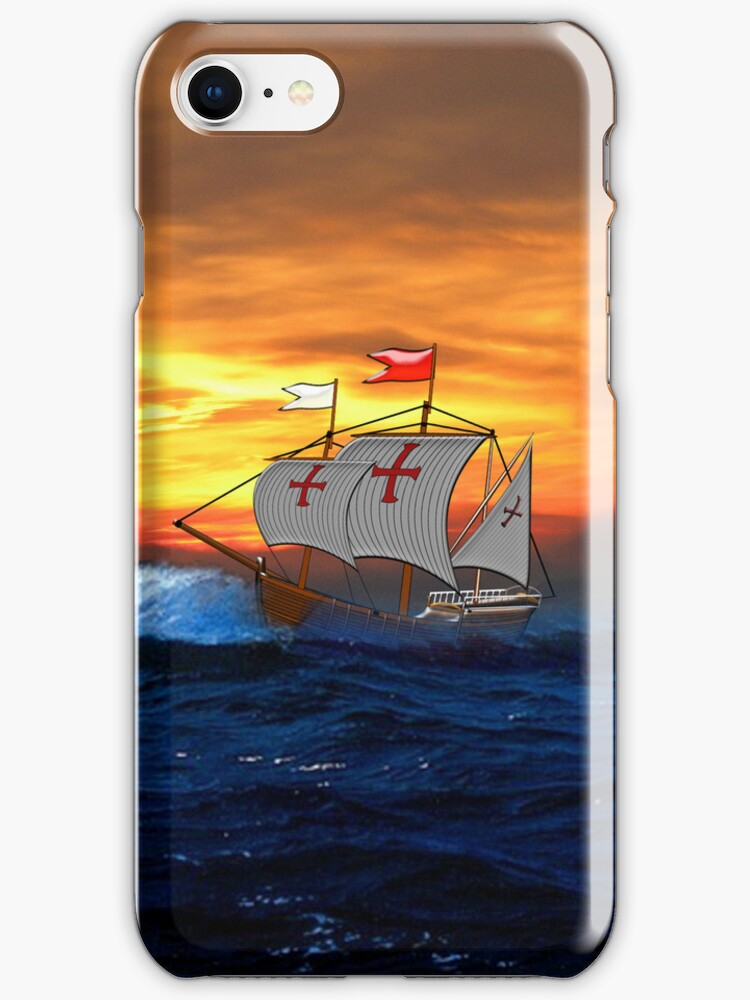 Pinta (Christopher Columbus) iPhone case by Dennis Melling