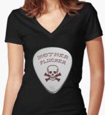 Mother Plucker Women's Fitted V-Neck T-Shirt