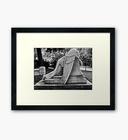 Even Angels Weep Framed Print