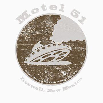 Motel 51 - Roswell Area 51 Alien UFO by shufti