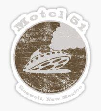 Motel 51 - Roswell Area 51 Alien UFO Sticker