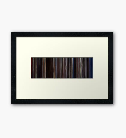 Moviebarcode: The Notebook (2004) Framed Print
