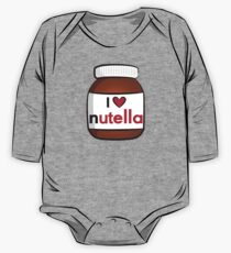 Ich <3 Nutella Langärmeliger Einteiler