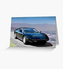 1980 Maserati Merak SS Greeting Card