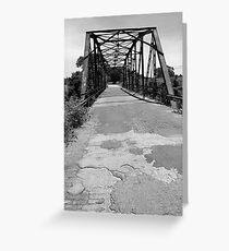 Route 66 - One Lane Bridge Greeting Card