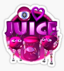 I Love Juice w/ cherry from Valxart.com Sticker