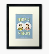 Moonrise Kingdom Filmplakat Gerahmtes Wandbild