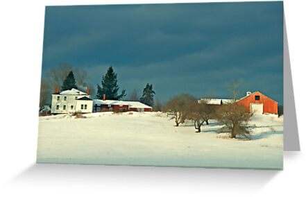 Winter Farm , Berstel Mills Maine by Dave  Higgins