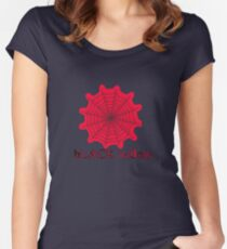 black widow spider web chick tee  Women's Fitted Scoop T-Shirt