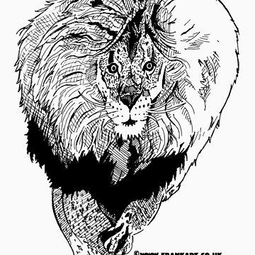 Light Lion T-Shirt by Frank Louis Allen (frankart.co.uk)  by frankart