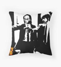 Larry David Pulp Fiction Throw Pillow