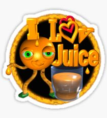 I love Juice Orange from Valxart.com  Sticker