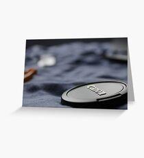 Canon Lens Cap Greeting Card