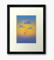 Evening Boat Trip Framed Print
