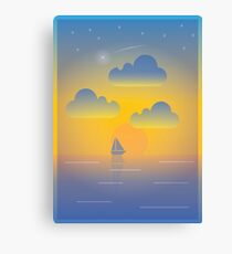 Evening Boat Trip Canvas Print
