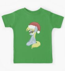 Derpy wearing a Santa Hat Kids Tee