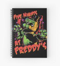 Cuaderno de espiral Cinco noches en Freddy's Phantom Freddy