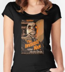 The Invisible Man - Retro Women's Fitted Scoop T-Shirt