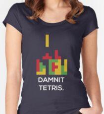Damnit Tetris Women's Fitted Scoop T-Shirt
