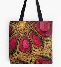 Pink eyed whirl, abstract wallart Tote Bag