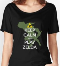 Keep calm and play Zelda! Women's Relaxed Fit T-Shirt