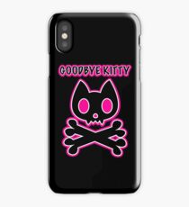 Goodbye Kitty cat skull and crossbones iPhone Case/Skin