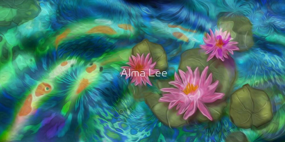 Cottage Koi by Alma Lee