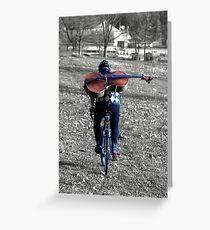 Cellist by Bike  Greeting Card