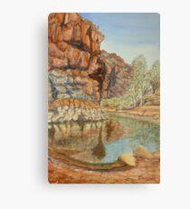 Barraranna Waterhole, Flinders Ranges Metal Print