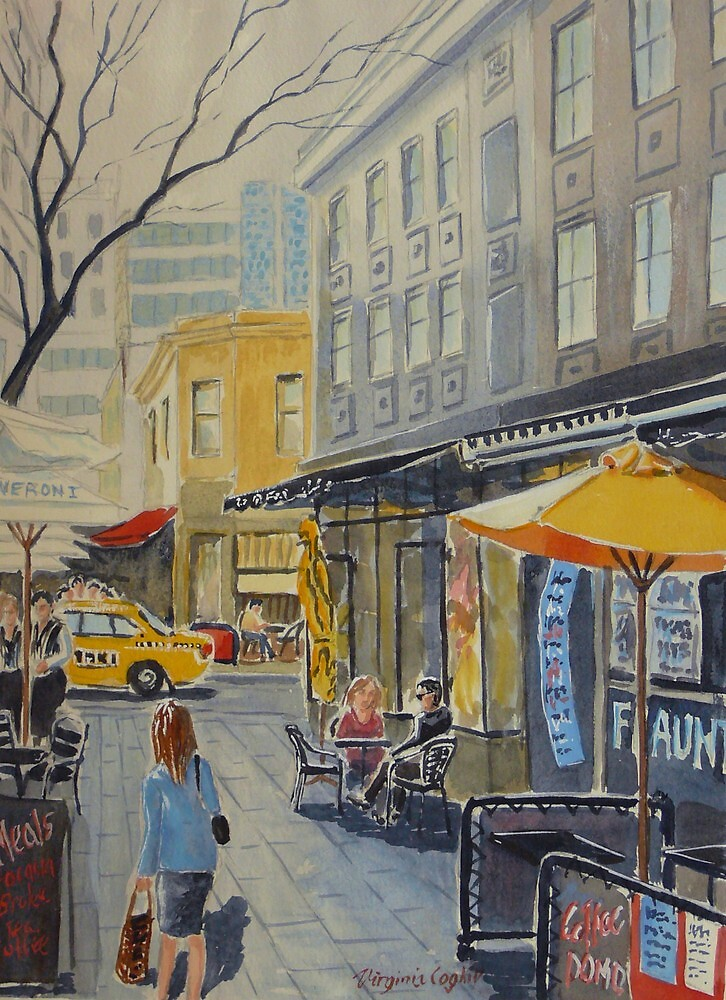 Hardware Lane, Melbourne by Virginia  Coghill