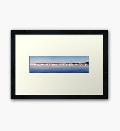 Valentine Yachts Panorama Framed Print