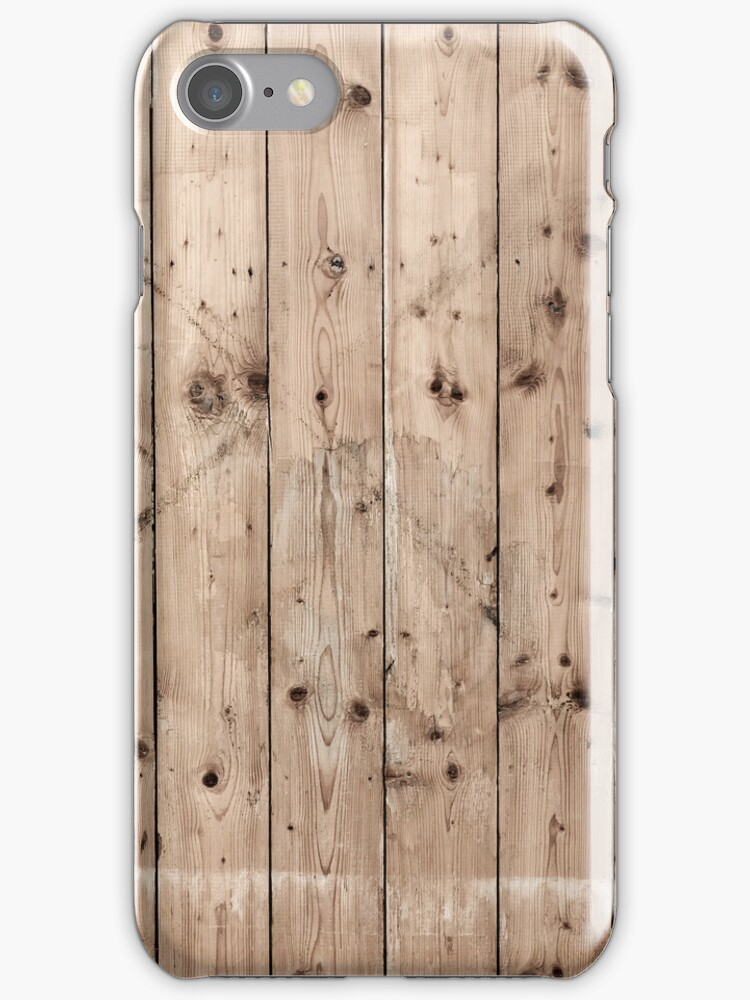 Vintage wooden wall texture  iPhone Cases by ilolab