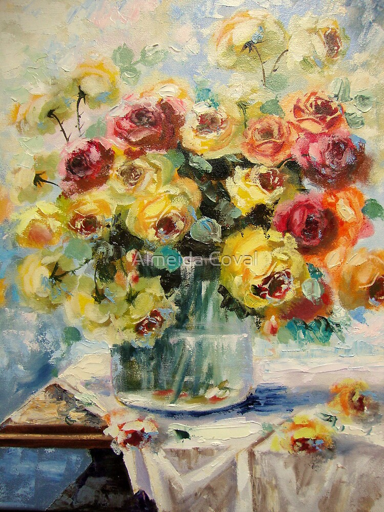 jarro de rosas.. by Almeida Coval