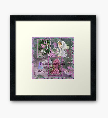 God makes the seed grow Framed Print