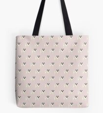 PUG with Pink background Tote Bag