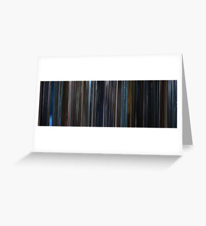Moviebarcode: Unbreakable (2000) Greeting Card