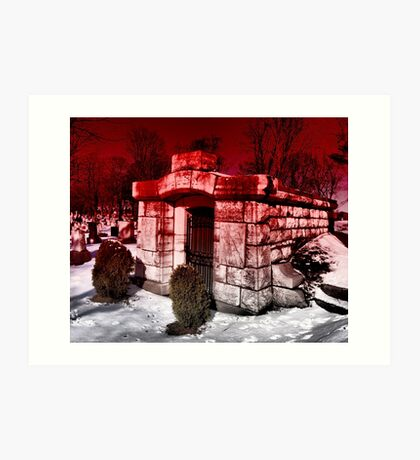 Under A Blood Red Sky Art Print