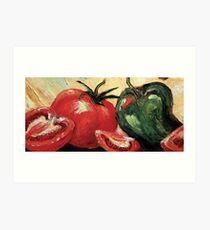 Garden Vegetables Art Print