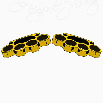 Straight Edge Brass Knuckles Knuckle Duster Clothing Co. by humanwurm