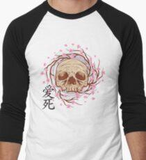 CHERRY BLOSSOM SKULL Men's Baseball ¾ T-Shirt