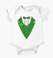St. Patrick's Day Tux One Piece - Short Sleeve