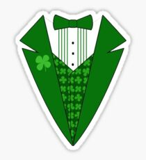 St. Patrick's Day Tux Sticker