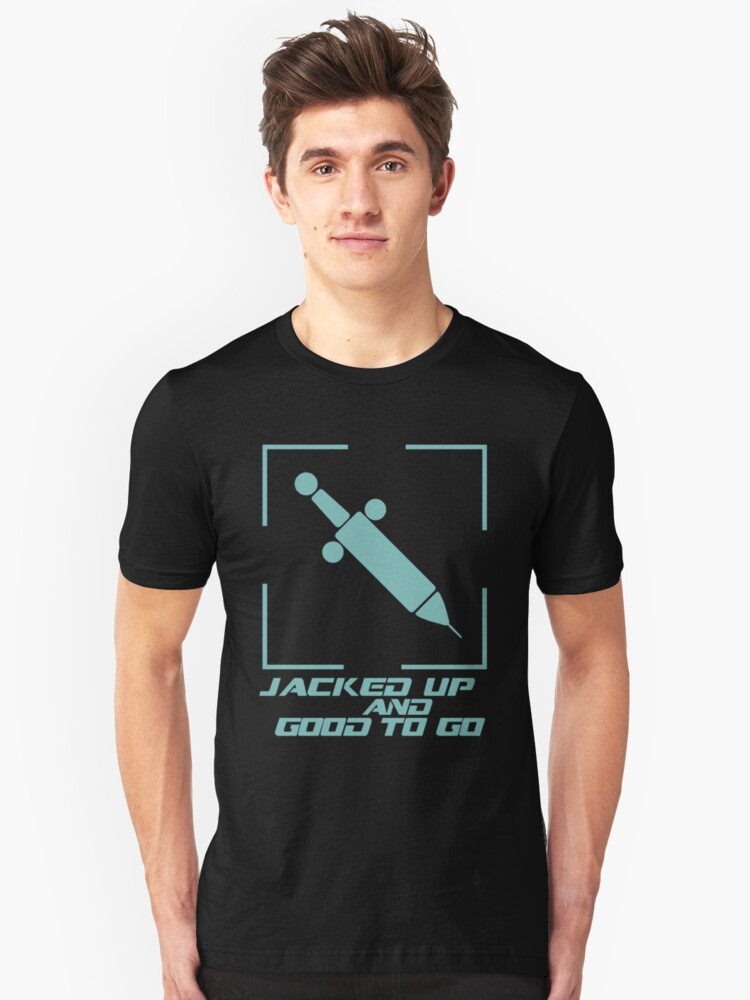 Jacked Up and Good To Go! - Blue by Shirts For Cool People